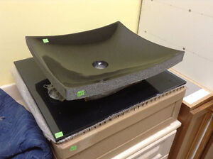 Brand New Stone Vessel Sink with Countertop
