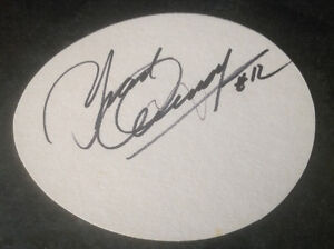 "YVAN COURNOYER AUTOGRAPHED ""WESTIN HOTEL"" COASTER"