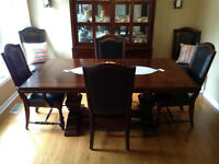 Dining Table with 6 Chairs & Hutch and Buffet-MUST SELL