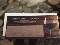 Gift Certificate for Wine Store