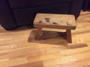 Solid wooden stool.