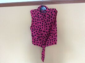 Girls Tie Front Blouse Age 12 Years