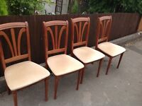 SET OF 4 DINING CHAIRS SHABBY CHIC PROJECT ** FREE DELIVERY AVAILABLE **