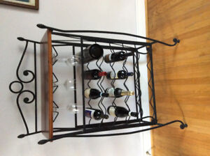 Pub table and chairs plus wine rack