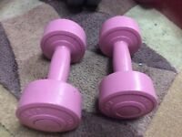 Ladies small fitness training weights dumbbells
