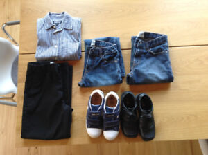 Boys dress pants, shirt, hats, shoes, jeans, Geox shoes