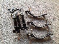 Bronze coloured drawer/unit handles