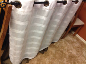 Curtain and rod