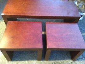 Nest of tables, free delivery within 5 miles of Grimsby, good condition