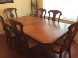 Dinning room set with buffet