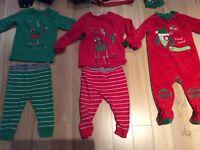 Noel: pyjamas deux pièces souris mini et ratine 9-12 -18 mois