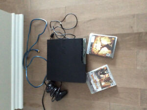PS3 with two games