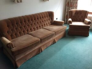 High quality and good condition sofa and matching chair