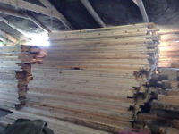 RECLAIMED TIMBER 7X2 BOARDS/ PLANKS,2.7 METERS LONG, DRY BARN STORED, STRAIGHT CLEAN & TRUE !