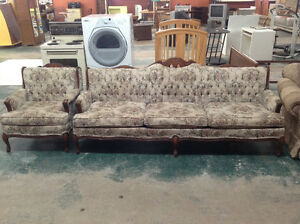 Used Antique Sofa And Chair set. In great shape.