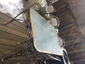 Free patio table and 4 chairs at the curb