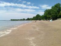sandy beach cottage lake erie Long Beach plus bunkie