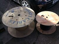 LARGE WOODEN CABLE REEL UP-CYCLE SHABBY CHIC reduced