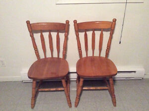 Two wooden chair free