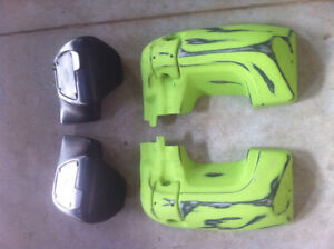 Harley flh lower fairings w glove boxes & mounting hardware