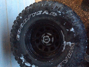 "Jeep 33"" tires and rims"