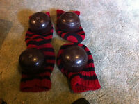 2 sets of lawn bowling balls