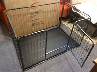 Heavy Duty Puppy Play Pen / Rabbit Enclosure Hutch Plastic Floor, Medium, 125 x 80 x 70 cm New