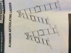 Mastercraft Aluminum Articulating Ladder