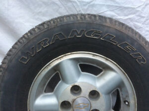 235/75/15 tires and alloys off 2002 blazer 2 sets,one,GY-Kelly's