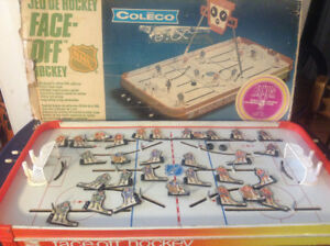 Vintage Coleco NHL FACE-HOCKEY Table Top Hockey w/ Box