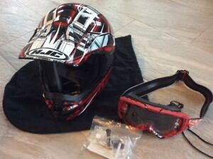 Full face helmet and goggles