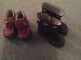 Girls winter boot bundle size 4