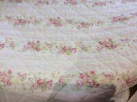 Pretty pink single quilt plus cushion.