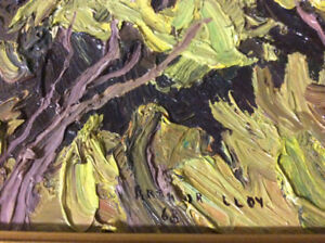 1968 Original Arthur Lloy oil  painting, 8 x 10