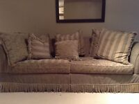 Beautiful feather stuffed Italian couch and love seat for sale