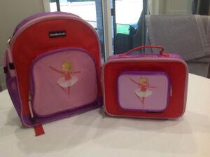 Crocodile creek brand matching ballerina backpack and lunchbox