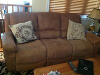 Couch and matching recliner
