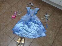 Disney Cinderella costume age 5-6 & accessories