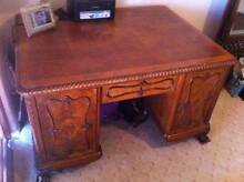 Antique c1900's Ornate English Oak Desk R$6,500 Dalkeith Nedlands Area Preview