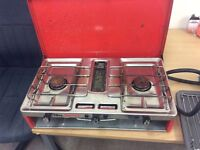 Tilley talisman double cooker with gas bottle