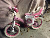 Lovely girls bike bicycle age 3-6 years. Hello kitty. Good condition.