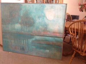 Large original Modern Painting abstract Landscape 4'x5' -$100.