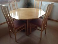 Beech table & 4 chairs from Sterling