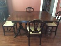 Duncan Phyfe Dining Room Table and 6 Chairs