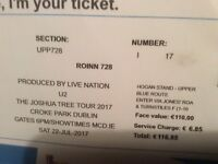 U2 Joshua Tree tour Croke Park Dublin