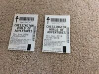 2 x Chessington World of Adventure tickets for 22 May 2018