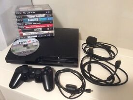 Playstation 3 Slim 150GB with 9 Games - Excellent Condition PS3
