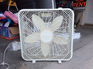 2 free standing fans