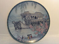 """Chinese porcelain collector plates """"The Marble Boat"""""""