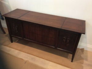Vintage record player cabinet converted to sideboard!